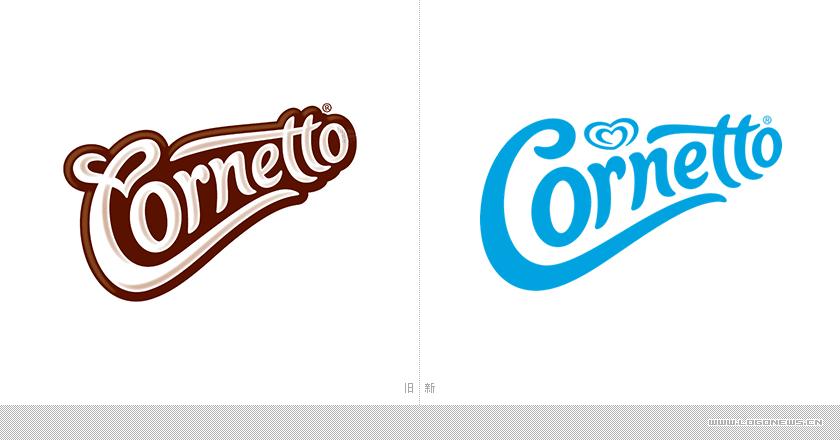 """甜筒之王""""可爱多 cornetto""""换了新 logo 还推出新包装"""