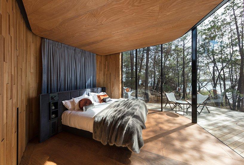 自然公园中的波状海景森林小屋 - arting365 - 创意