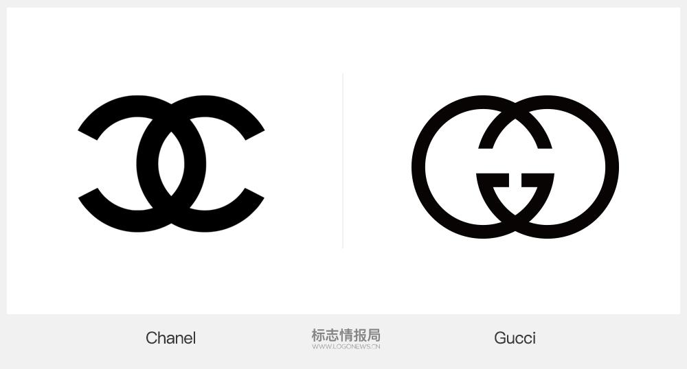 第一個為目前 gucci品牌的主標志,一般出現與字標和圖標組合中.圖片